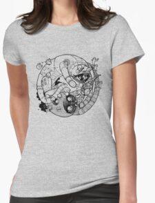 The Yin-Yang Robo Fight! Womens Fitted T-Shirt