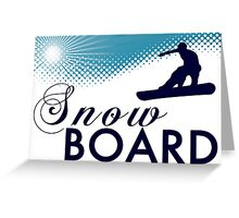 sky high snow board Greeting Card