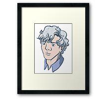 Unicorn Sherlock (White) Framed Print