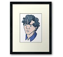 Unicorn Sherlock (Black) Framed Print