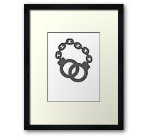 Handcuffs in a link  police officer  Framed Print