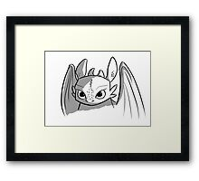 Toothless doodle Framed Print