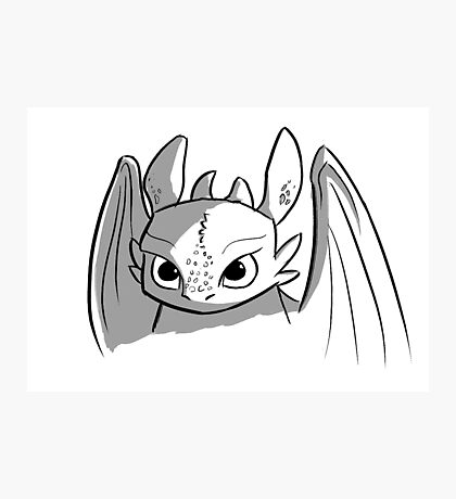Toothless doodle Photographic Print