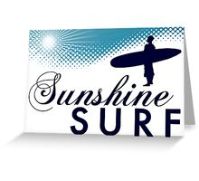 sunshine surf Greeting Card