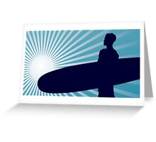 surf in the sun Greeting Card