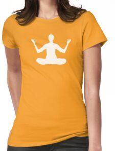 peaceful pose Womens Fitted T-Shirt