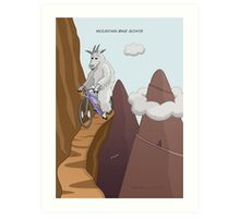 Mountain Bike Goats Art Print