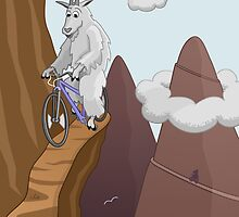 Mountain Bike Goats by Thingsesque