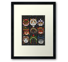 Cats in Winter Hats Framed Print