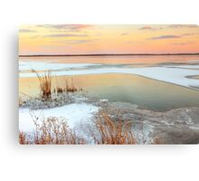 Lake Sunset Illinois Metal Print