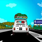 I TEMPI DELLE VACCHE GRASSE (Going to the beach) by CLAUDIO COSTA