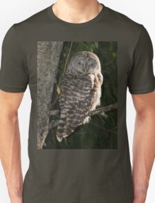 Barred Owl Forest Hike Unisex T-Shirt