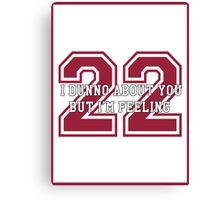 22 Sport Jersey  Canvas Print