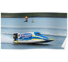 Race boat Taree 02 Poster