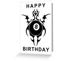 happy birthday pool player Greeting Card