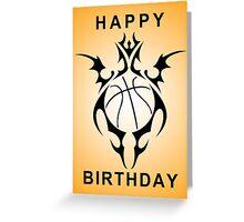 happy birthday basketball Greeting Card