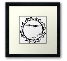 baseball tribal Framed Print
