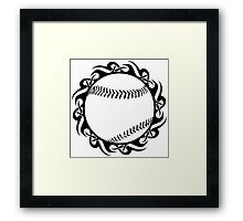 baseball : tribalz Framed Print