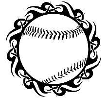 baseball : tribalz Photographic Print