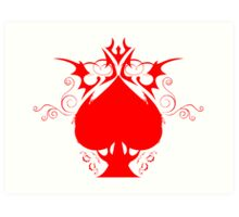 red spade Art Print