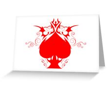 red spade Greeting Card