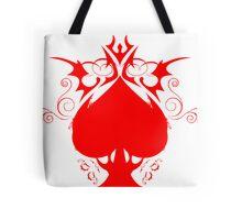 red spade Tote Bag