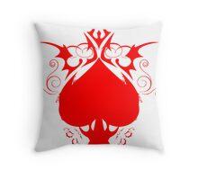 red spade Throw Pillow