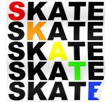 skate textstacks Poster