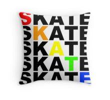 skate textstacks Throw Pillow