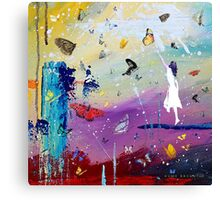 Butterflies and Me Canvas Print