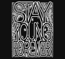 White Bandana Stack by STAY YOUNG FOREVER By Alex Harris