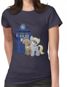 Derpy and the Doctor (My Little Pony: Friendship is Magic) Womens Fitted T-Shirt