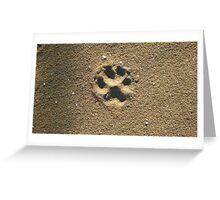 Sandy Paw Greeting Card
