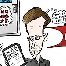 Edward Snowden Charged Caricature by Binary-Options