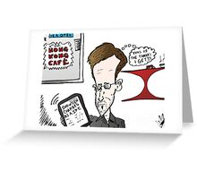Edward Snowden Charged Caricature Greeting Card