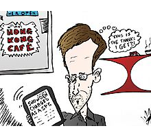 Edward Snowden Charged Caricature Photographic Print