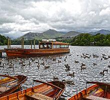 Derwentwater Boat Scene 3 by DavidWHughes