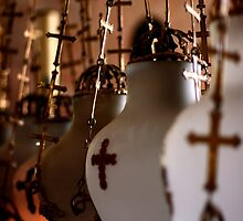 Lamps Inside the Church of the Holy Sepulchre, Jerusalem by ibadishi