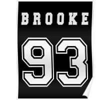 BROOKE - 93 // White Text Poster