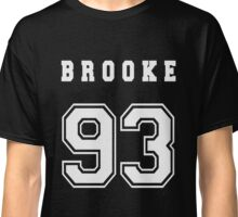 BROOKE - 93 // White Text Classic T-Shirt