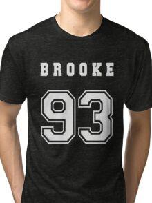 BROOKE - 93 // White Text Tri-blend T-Shirt