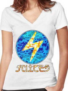 JUICED Women's Fitted V-Neck T-Shirt