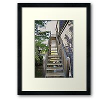 Stairs to Docs Framed Print