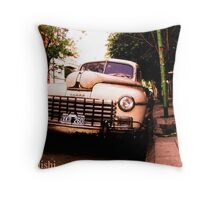 Old Classic Dodge, on the Streets of Buenos Aires Throw Pillow