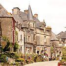 Main Street in the Village of Rochefort en Terre - Brittany France by Buckwhite