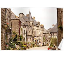 Main Street in the Village of Rochefort en Terre - Brittany France Poster