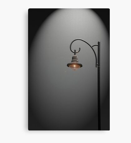 Lonely Street Light at Dark  Canvas Print