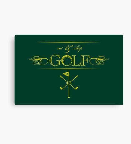 Eat, Sleep & Golf VRS2 Canvas Print