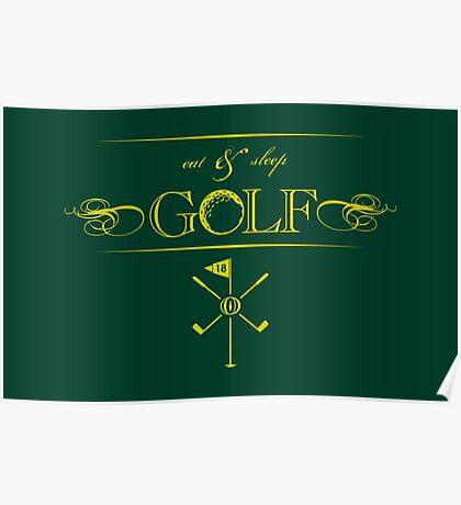 Eat, Sleep & Golf VRS2 Poster