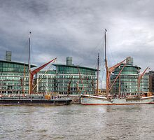 River Thames Barges. by David Tinsley